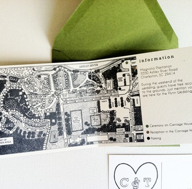 Unique booklet style wedding invitation for the adventurous bride