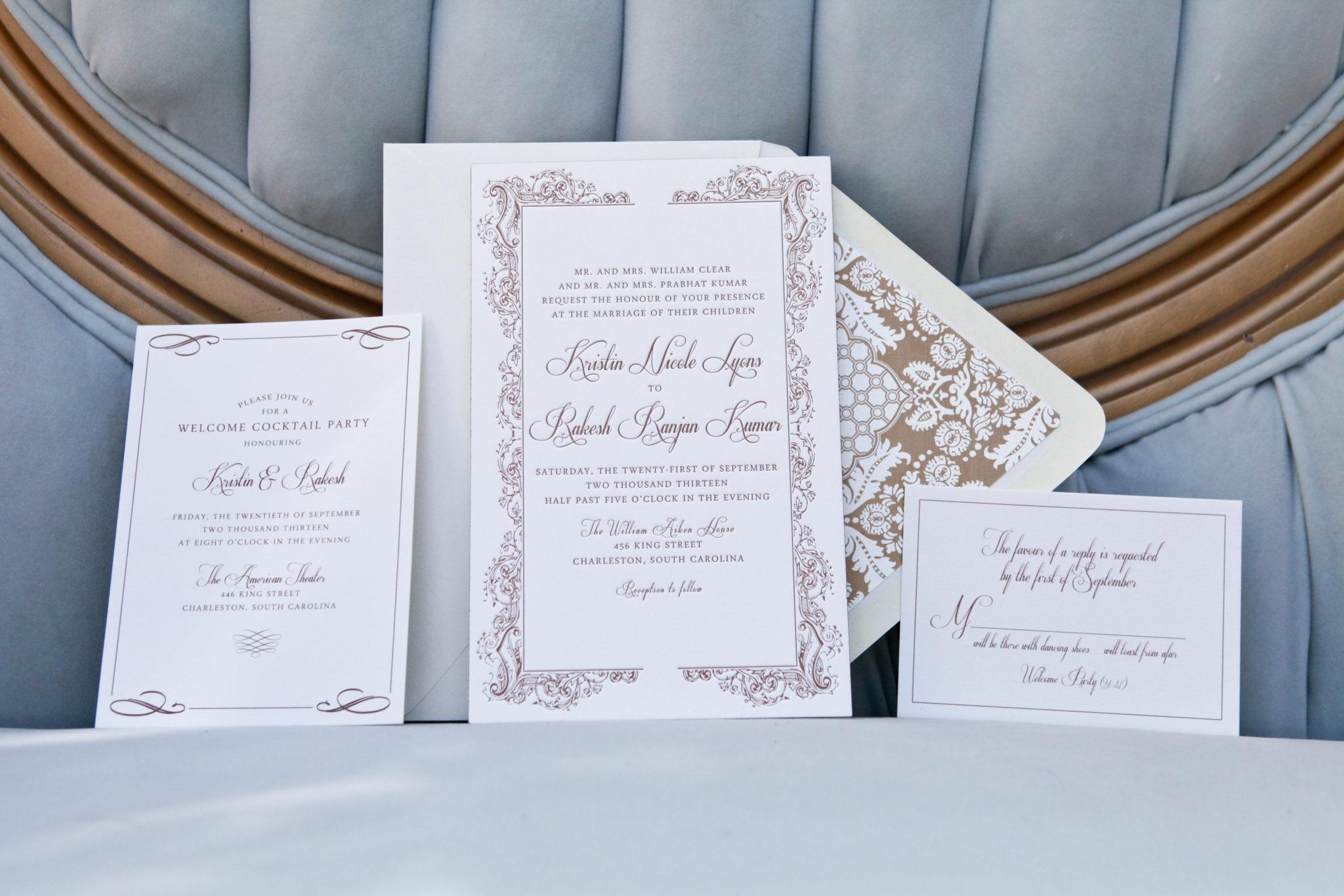 Customized Wedding Invitations: Custom Wedding Invitation Dodeline Design Charleston SC