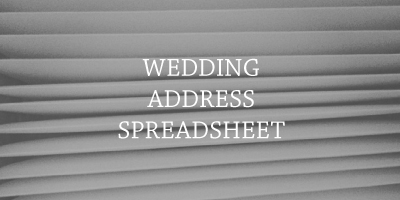 Wedding Address Template