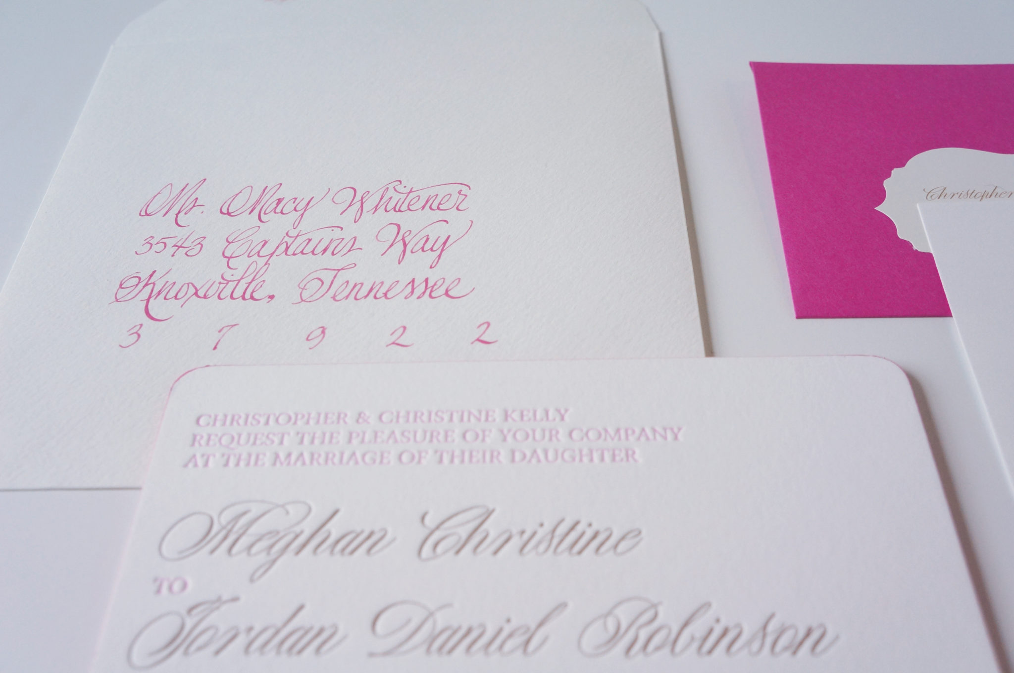 Bright Wedding Invitations: Bright Pink Invitation Lowndes Grove Wedding Charleston