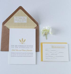 Modern Custom Unique Wedding Invitation Dodeline Design Charleston SC