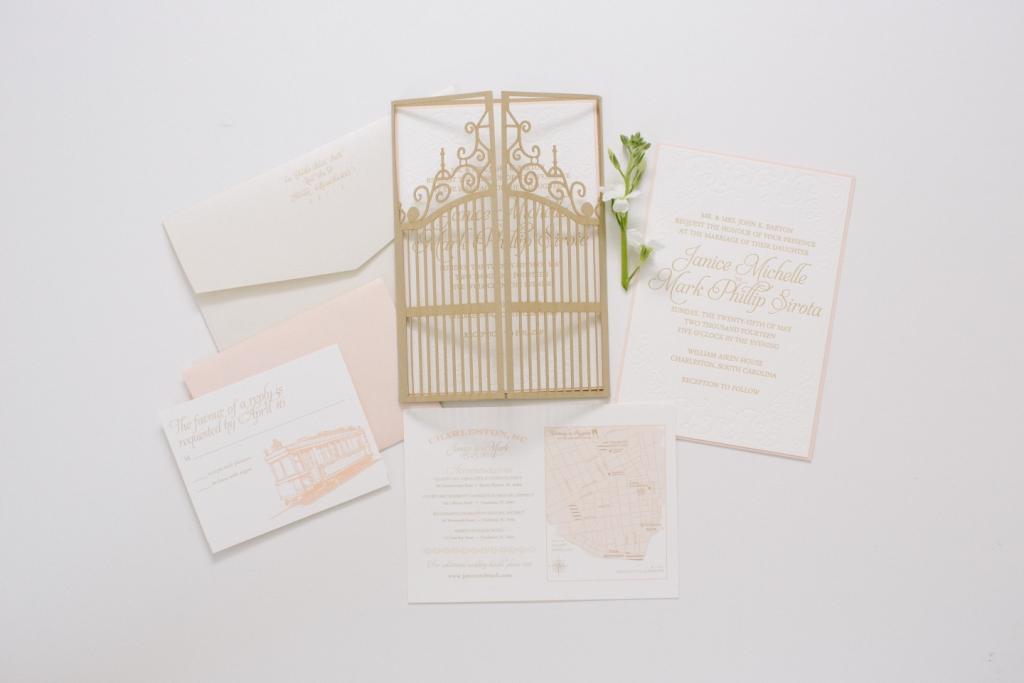 gate wedding invitation