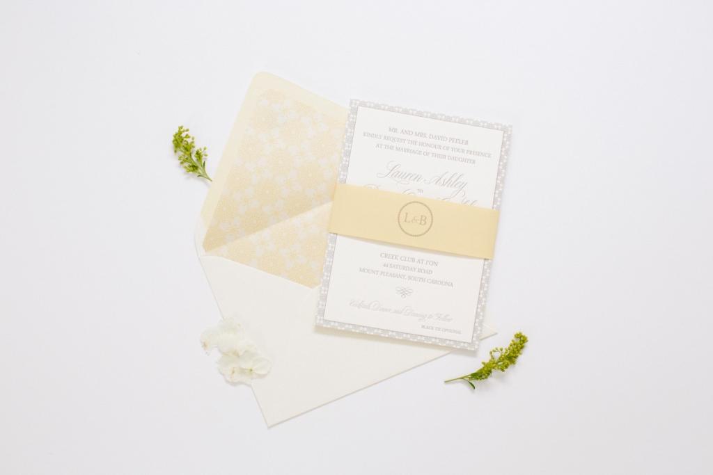yellow and gray invitation