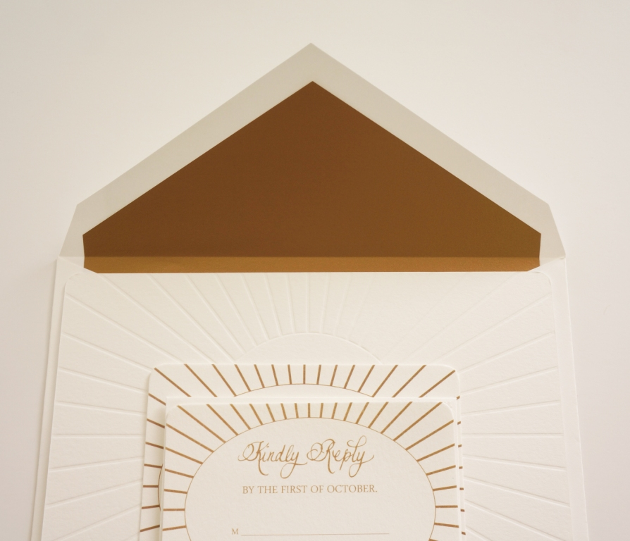 traditional monogram invitation