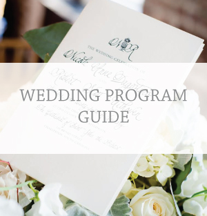 wedding program guide