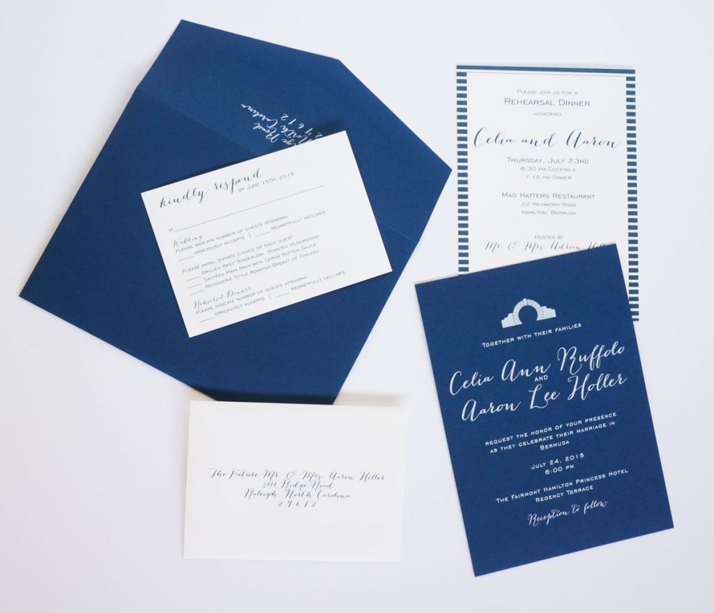 bermuda wedding invitation