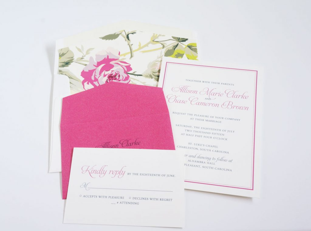 colorful summer wedding invitation