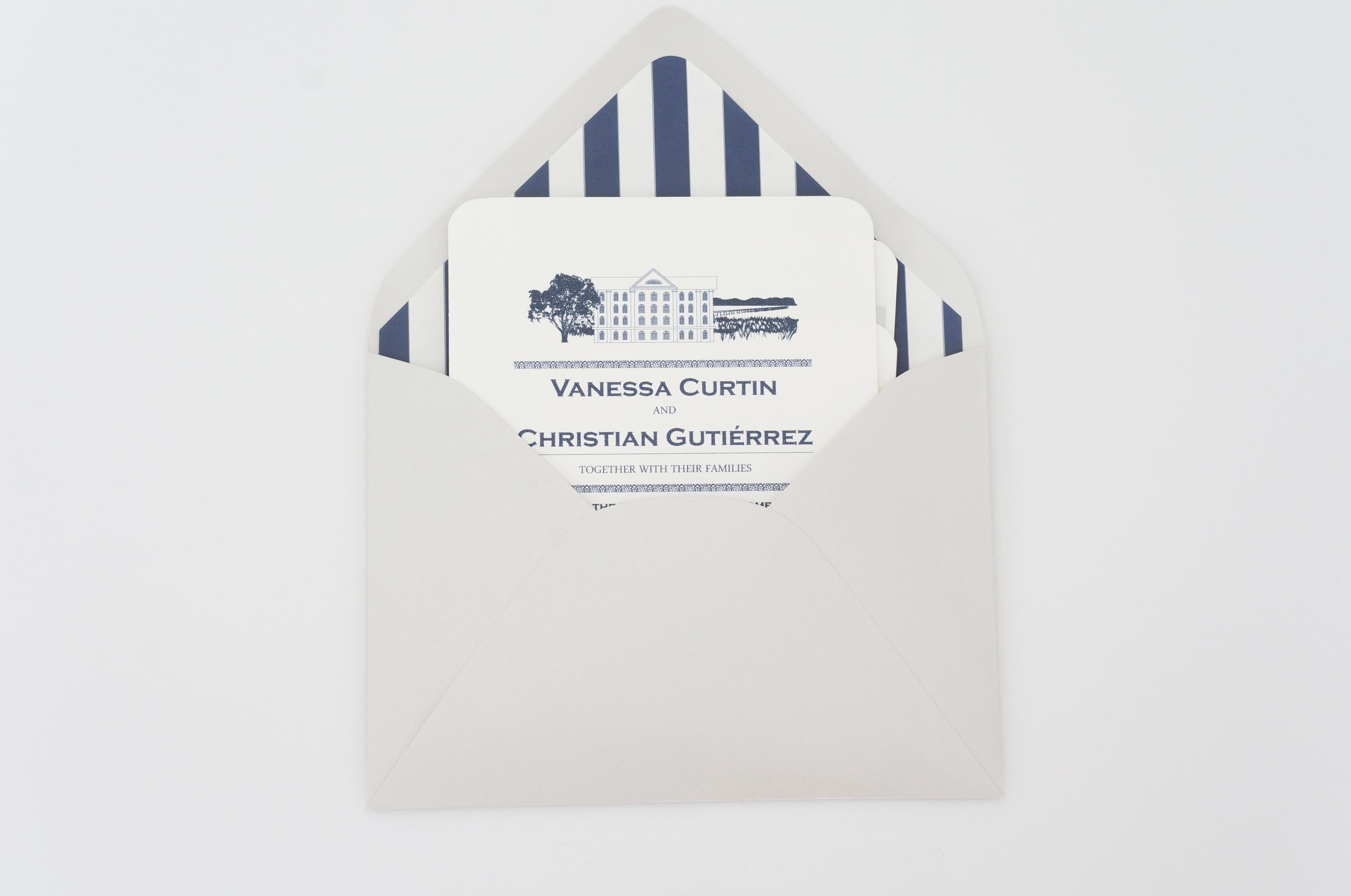 rice mill wedding invitation