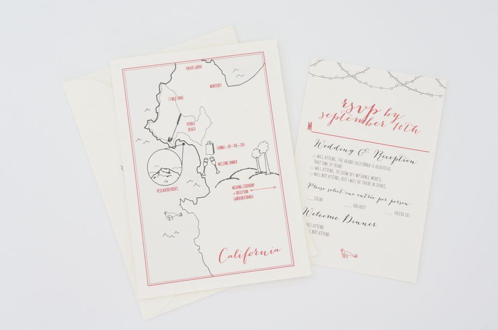 trifold wedding invitation