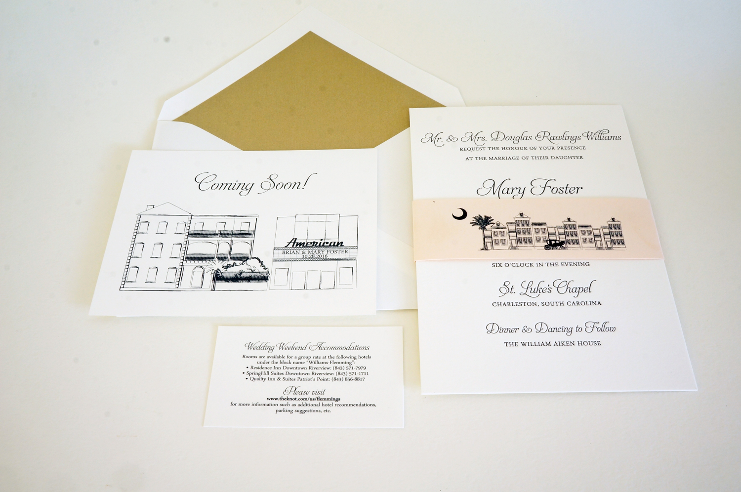 charleston invitation design