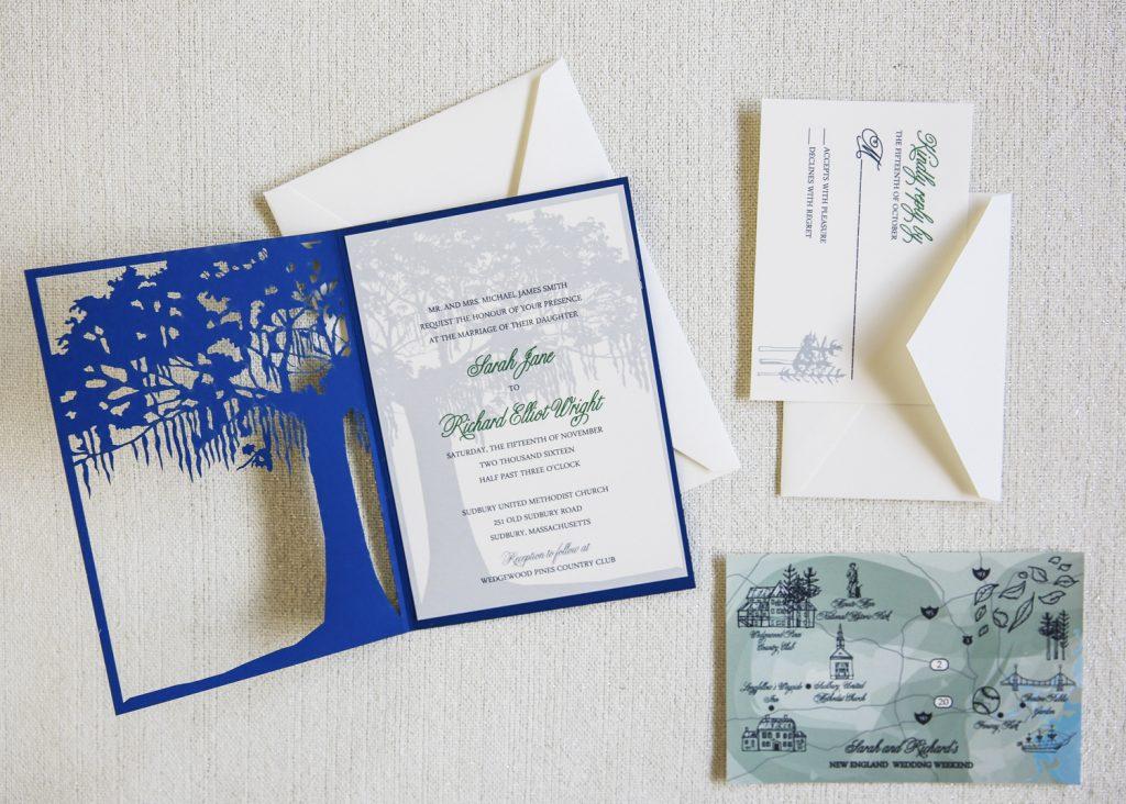 laser cut tree invitation