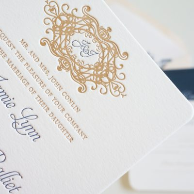 cotton dock wedding invitation