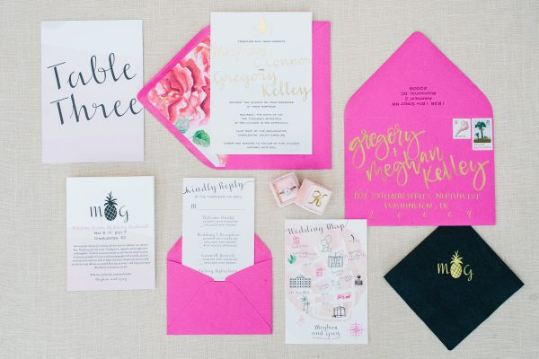watercolor flower wedding invitation
