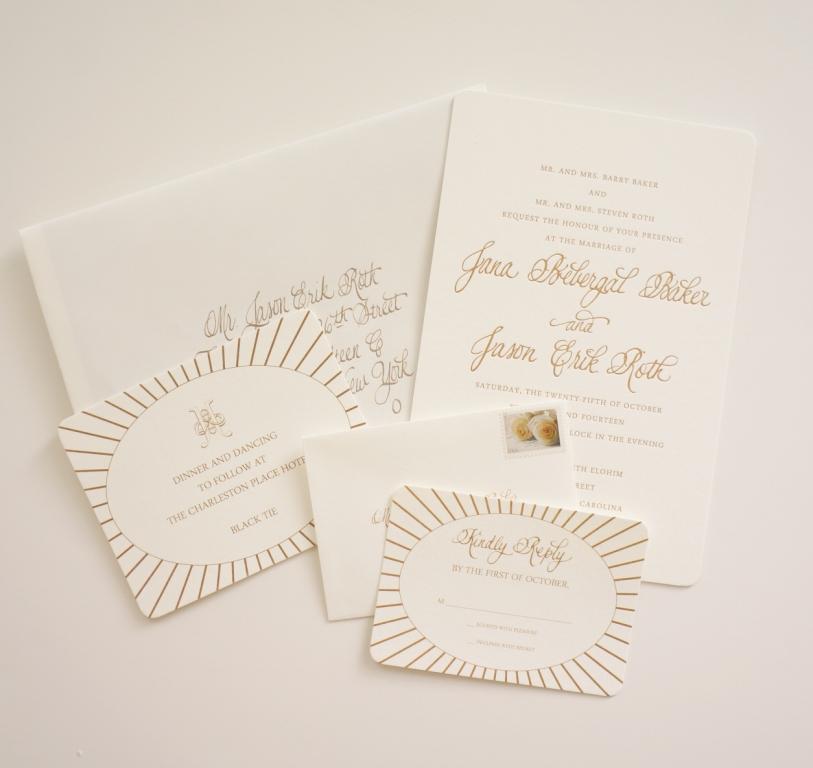 Traditional Engraved Wedding Invitations: Traditional Monogram Invitation Charleston Sc Dodeline