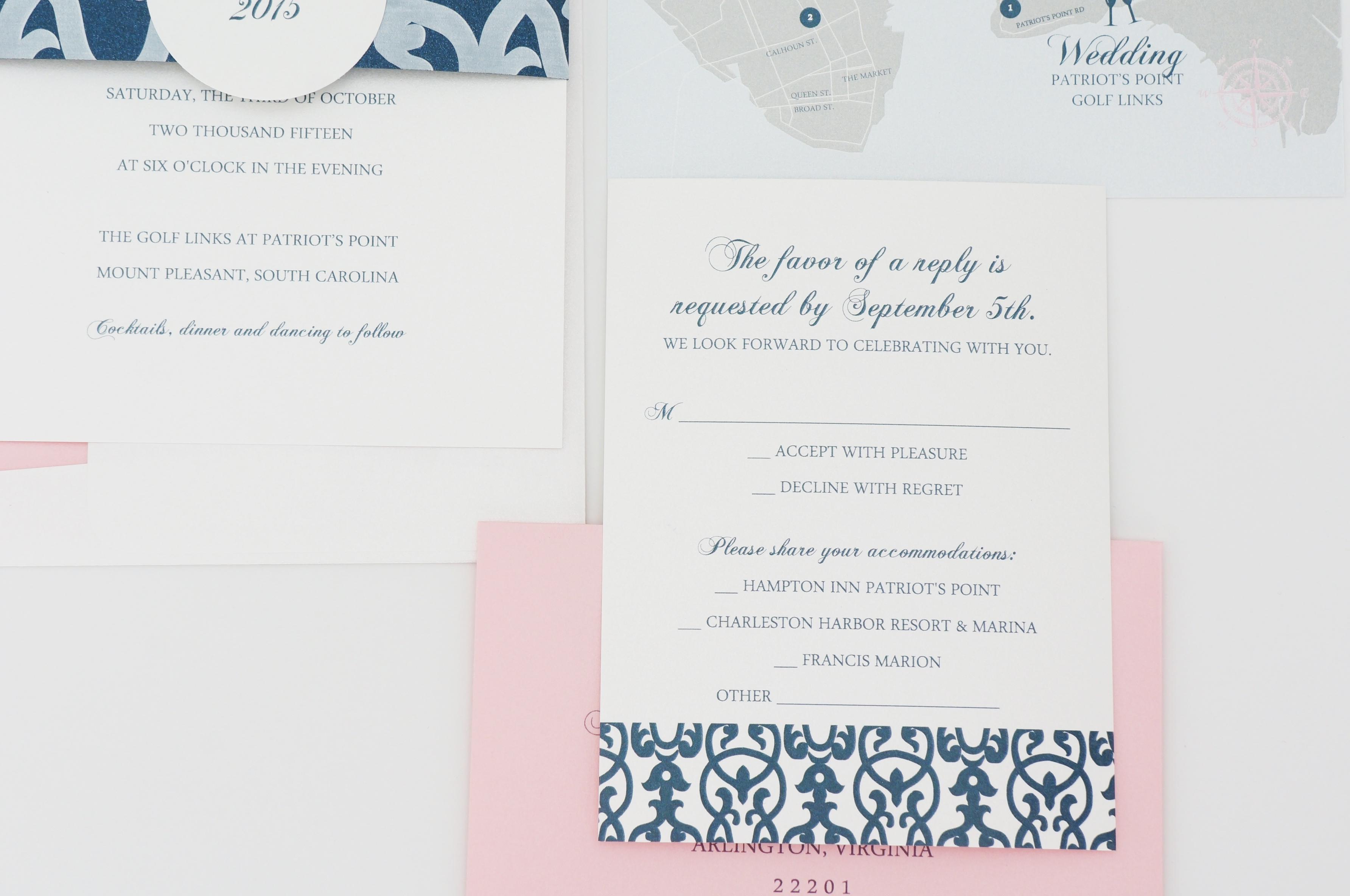 Charleston Sc Wedding Invitations: Patriots Point Invitation Charleston Sc Wedding By Dodeline