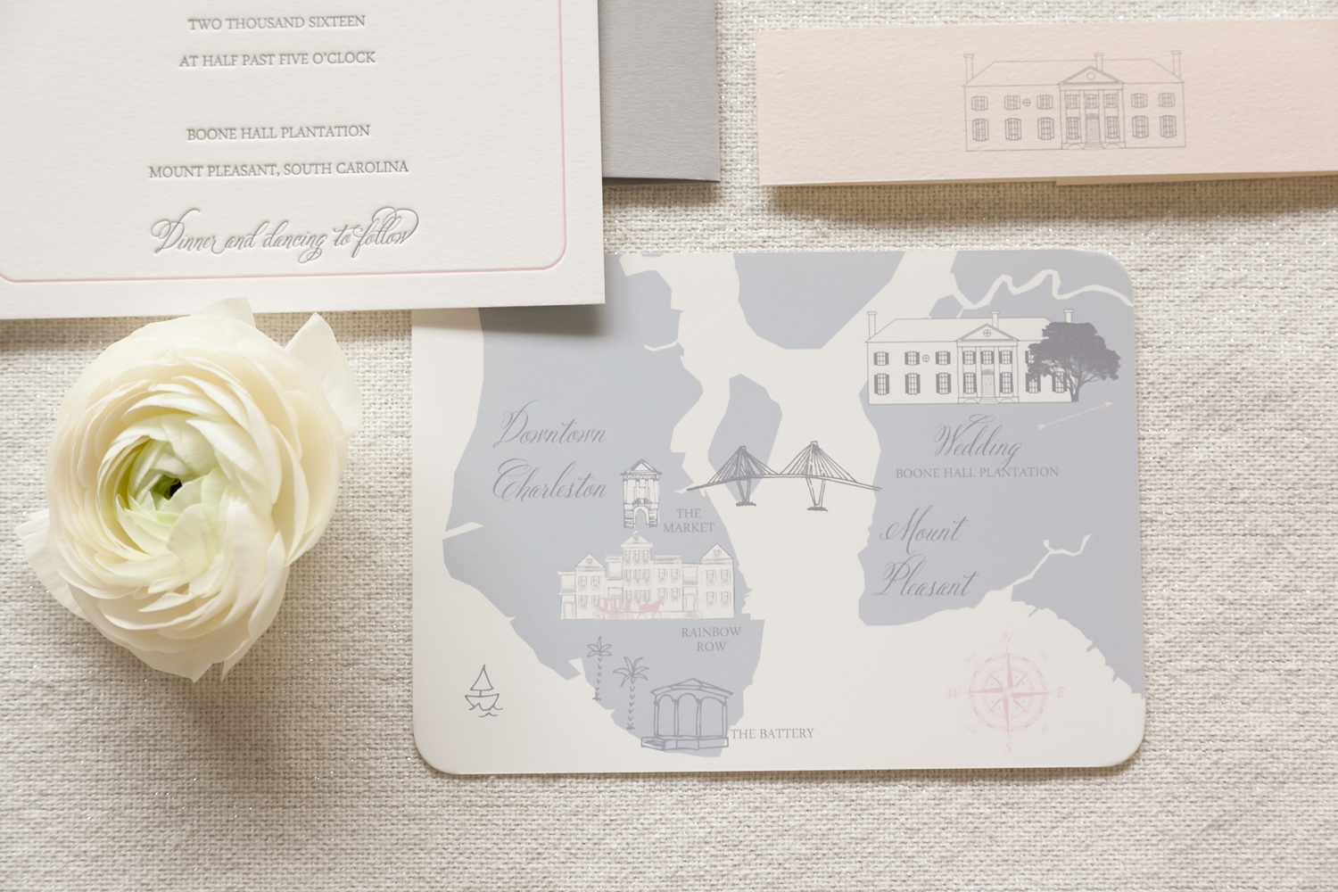 boone-hall-wedding-map - Wedding Invitations, Charleston graphic ...