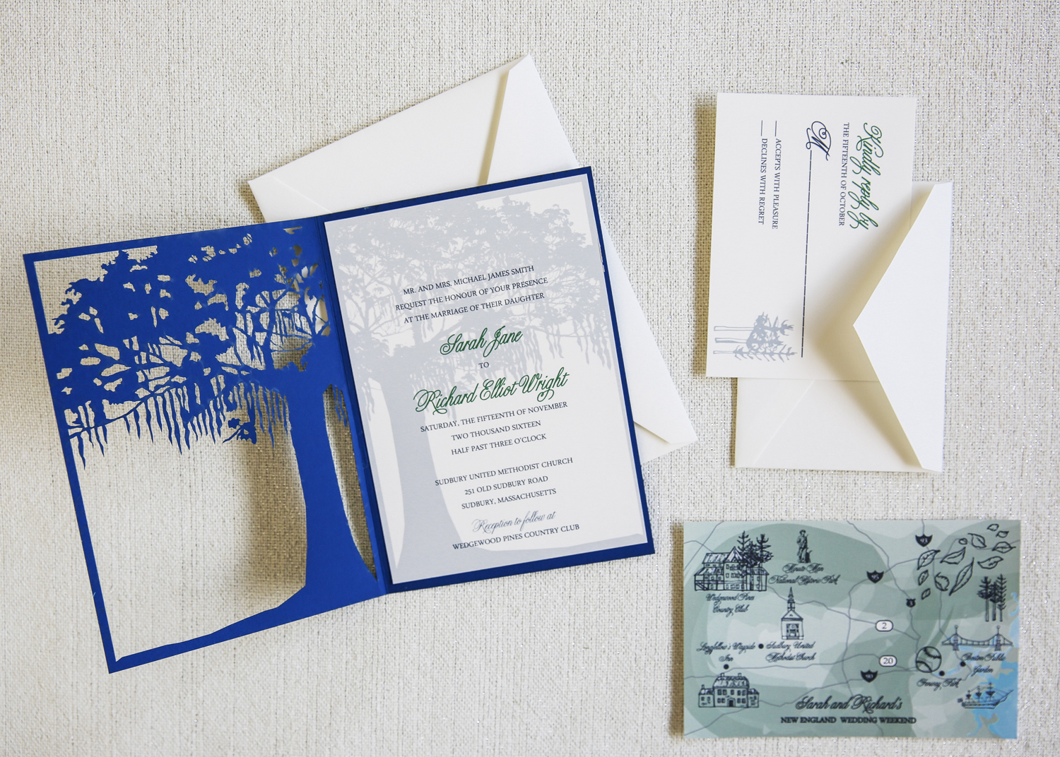 Laser Cut Tree Invitation by Dodeline Design Charleston SC