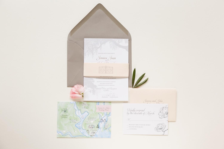 magnolia plantation wedding invite