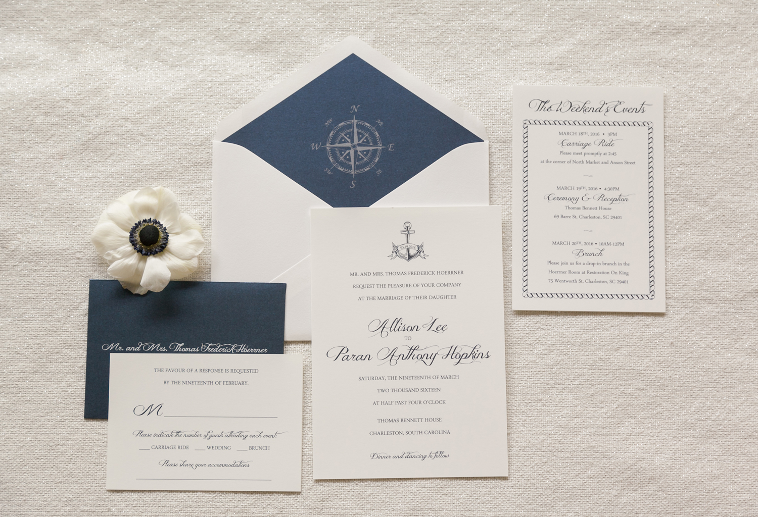 Nautical Wedding Invitation Anchor Invitation Compass Dodeline Design – Nautical Wedding Invite