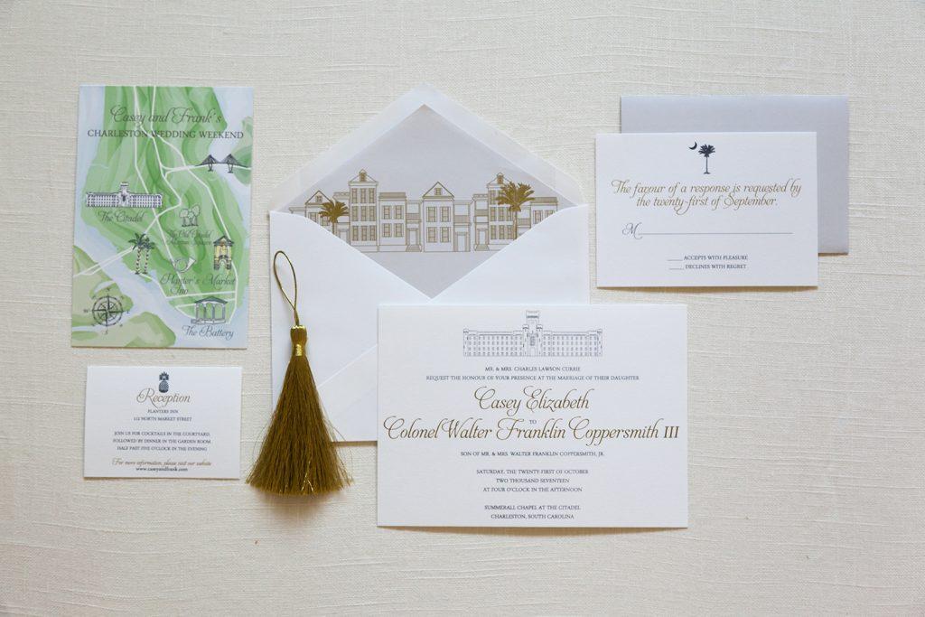 Charleston Sc Wedding Invitations: Citadel Wedding Invitation