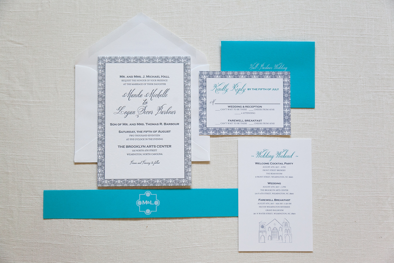 wilmington wedding invitation - Wedding Invitations, Charleston ...