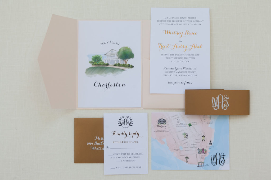 Blush Pocket Invitation Web Design Graphic Design Wedding Invitations Card Design Charleston Sc Dodeline Design