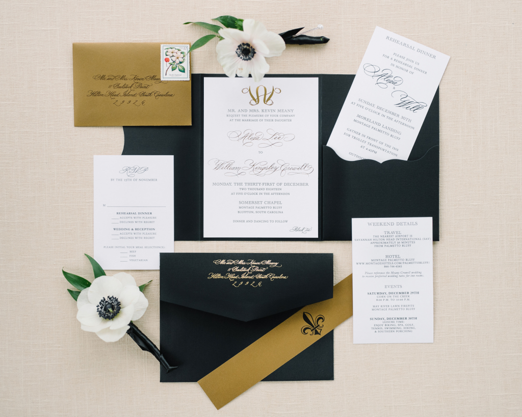 New Years Eve Wedding Invitation: New Year's Eve Wedding Invitation